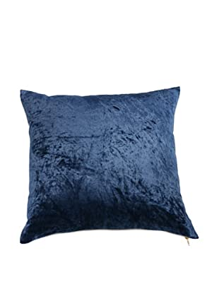 Filling Spaces Solid Crushed Velvet Pillow, Indigo