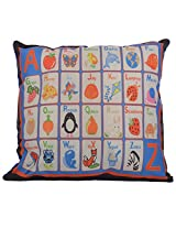 Twisha Alphabets Printed Pillow 12 X 12 X 4 Inch