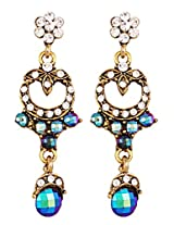 Beautiful earrings with white n blue stones