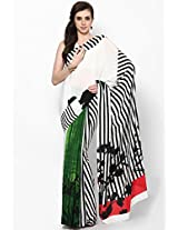 Crepe Multi Color Screen Printed Saree Satya Paul