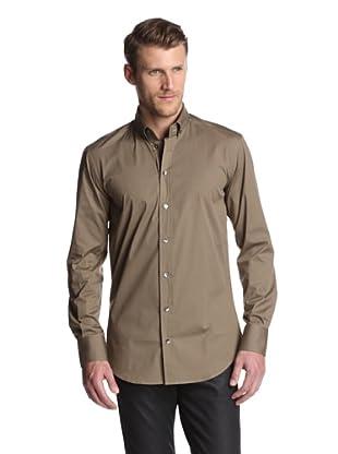 Dolce & Gabbana Men's Slim Fit Solid Dress Shirt (Brown)
