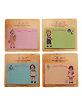 Memo-It Paper Doll Mate removable adhesive paper set of 4 by mothersstop