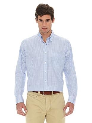 Turrau Camisa Cuadro Pequeño Bicolor (Azul)