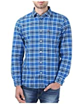 London Fog Men's Casual Shirt (8907174017174_Dark Blue_XX-Large)