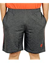 Scorpion Mens Cotton Shorts -Charcoal Melange -Large