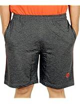 Scorpion Men's Cotton Shorts (SH-STY01-C0504XXL-1_Charcoal melange)