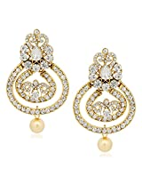 Pearl Earrings For Women Girls in Traditional Ethnic Gold Plated Earings By Meenaz J126
