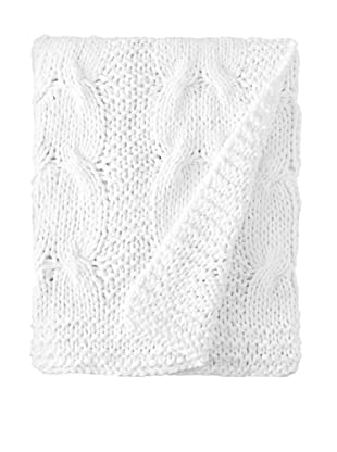 Amity Cable Knit Throw, White, 50