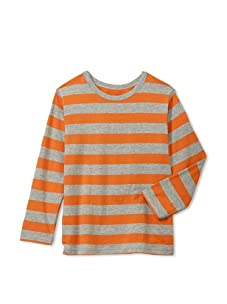 Soft Clothing for Children Boy's Remy Long Sleeve Tee (Orange)
