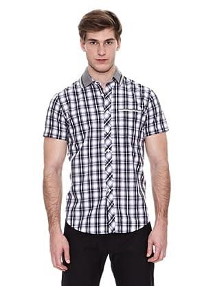 Springfield Camisa Vestir M/C. N1 Cuadro Fred Tippin (Gris / Negro)