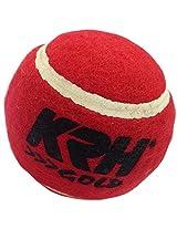 KRH Unisex Cricket Tennis Ball - Standard (Maroon) pack of 6