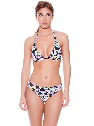 Teleno Bikini Cortina Manchas (Multicolor)