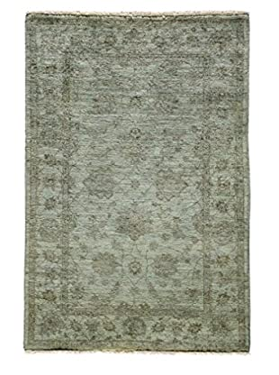 Darya Rugs Ziegler One-of-a-Kind Rug, Light Blue, 4' 10 x 3' 4