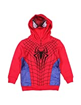 Marvel Spider-man Boys Costume Fullzip Hoodie with Mask red blue/4T