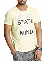 Masculino Latino Casual Beige T-shirts Round Neck for Men MLT3007A-XL