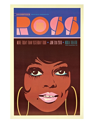 La La Land Posters Diana Ross at the Nokia Theatre