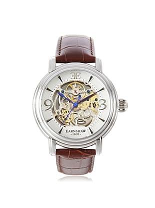 Earnshaw Men's 8011-01 Longcase Brown/White Stainless Steel Watch
