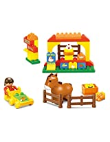 Sluban M38-B6017 Lego Happy Farm Building Block Toy, Multi Colour