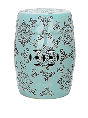 Safavieh Medallion Garden Stool, Robins Egg Blue
