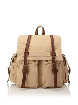 J. Campbell Los Angeles Men's Washed Canvas Backpack (Tan)