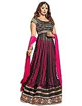 Vibes Women's Net Brasso Unstitched Lehenga Choli (L3-9002_Pink)