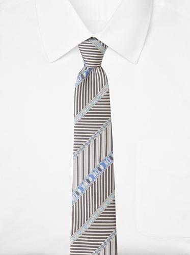 Emilio Pucci Men's Multi-Stripe Tie, Stone/Blue