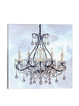 Giclée Frosted Chandelier Canvas Print