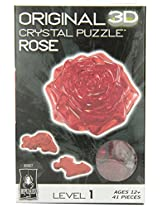 3D Crystal Puzzle - Red Rose