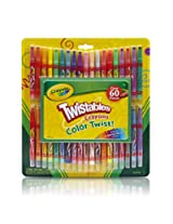 Crayola; Twistables; Mini Crayons and Paper Set; Art Tools; 38 Mini Twistables Crayons, 25 Sheets of Construction Paper