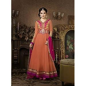 Fabulous Neha Sharma In Peach Floor Length Anarkali Suit
