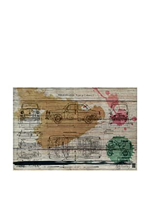 Oliver Gal 'Voiture Spring' American Reclaimed Wood Wall Art