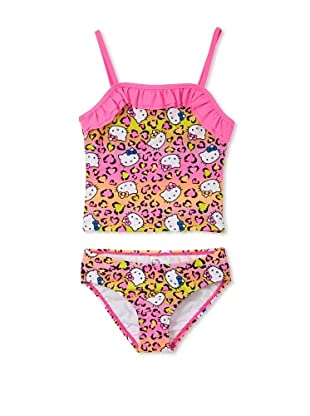 Hello Kitty Girl's 2-6X Animal Ruffle Tankini Set (Hot Pink)
