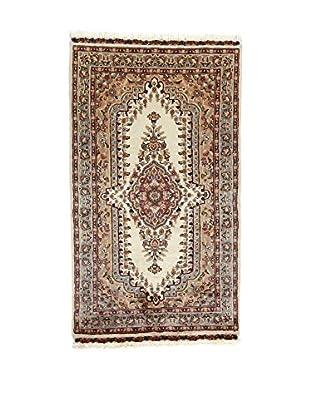 L'Eden del Tappeto Teppich Kashmirian F/Seta braun/ecru 159t x t89 cm