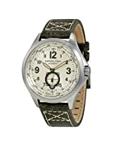 Hamilton Khaki Aviation Automatic Beige Dial Green Leather Men'S Watch - Hml-H76655723