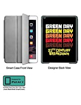 Universal Music Officially Licensed Green Day -Style 6 Tablet Designer GRAY SMART CASE for APPLE IPAD AIR2