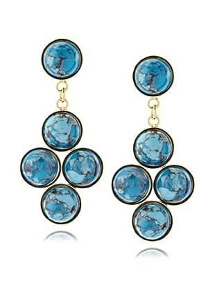 Yochi Quad Turquoise Stone Earrings