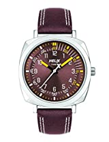 Helix Analog Brown  Dial Men's Watch - TW017HG04