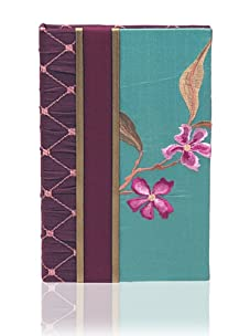 Molly West Turquoise Lily- Lined Journal, Purple/Turquoise
