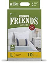 Friends Ultrathin Underpads (10 Underpads) Large