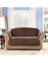 Sure Fit Deluxe Pet Cover  - Sofa Slipcover  - Chocolate (SF39230)