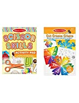 Melissa & Doug Scissor Skill Activity Pad and Cut Crease Create 3-D Sculpture Snowflakes