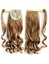 "A.H #27 Reddish Brunette Fashion 22"" Wavy Wrap Around Clip In Ponytail Extension Synthetic Hairpiece Wigs 90g"