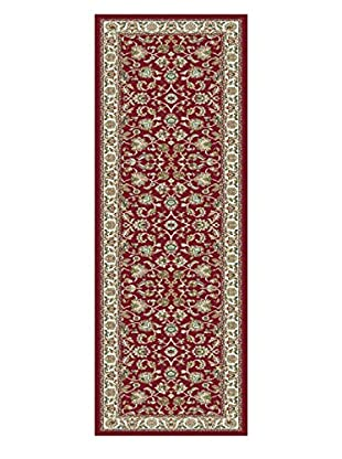 Universal Rugs Capri Traditional Runner, Red, 2' x 8'