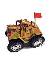 Tumbling Tank 360* Rolling Non Stop Toy. Battery Operated with Flashing Top Lights!