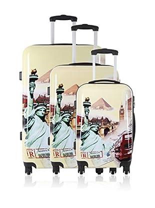 Travel One 3er Set Hartschalen Trolley Siparia