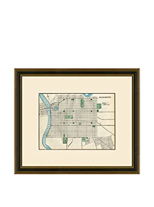 Antique Lithographic Map of Sacramento, 1883-1903