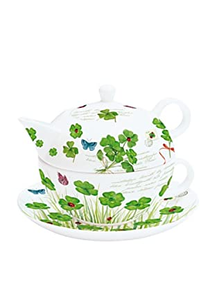 Easy Life Design Tea For One in Porcellana Bone China Clover 250 ml + 200 ml