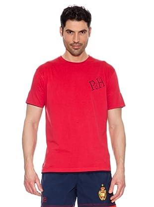 Pedro del Hierro Camiseta Contrastes (Rojo)