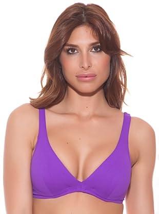 Ana Durán Top Bikini Begonia (Púrpura)