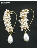 Bindurekha Fashion Studio Ghungroo Pearl Drop Earrings